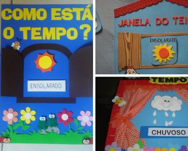Cartazes do Tempo para Educação Infantil em EVA