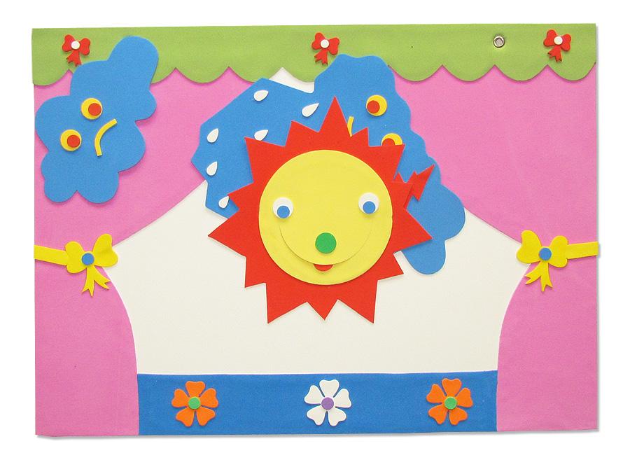 Cartazes do Tempo para Educação Infantil em EVA - Janela do tempo