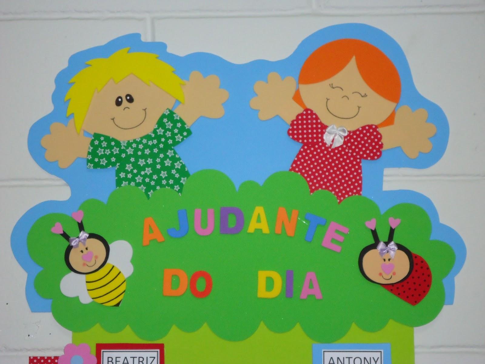 Cartazes para o ajudante do dia - Painéis e Murais em EVA
