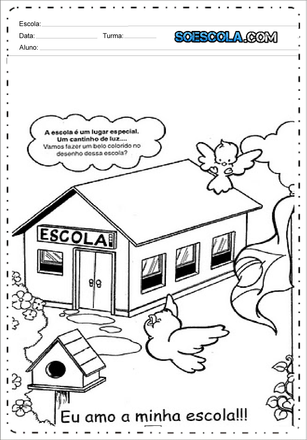 Desenhos Para Colorir Volta às Aulas Para Imprimir