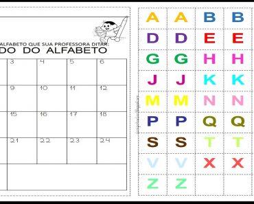 Ditado do Alfabeto para imprimir - Para Series Iniciais