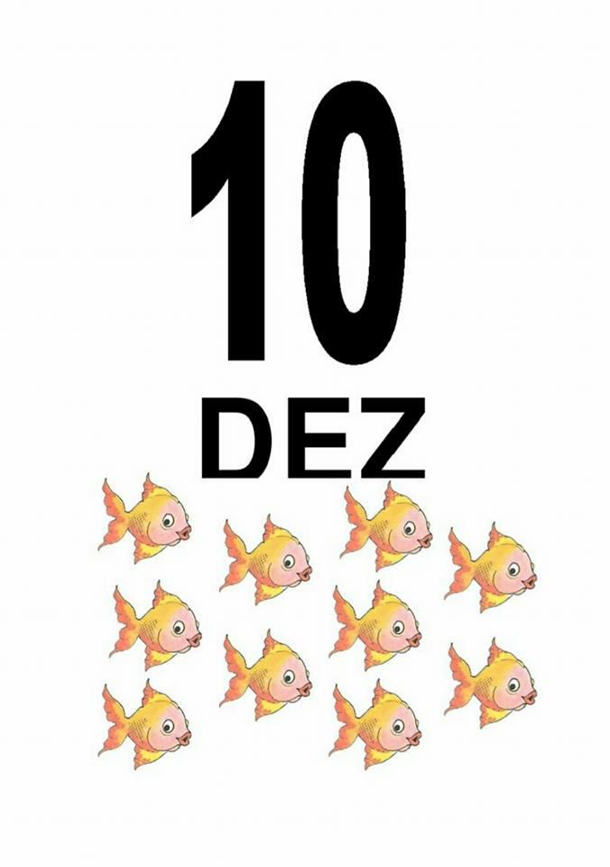 Fichas de Números e Quantidades: 10