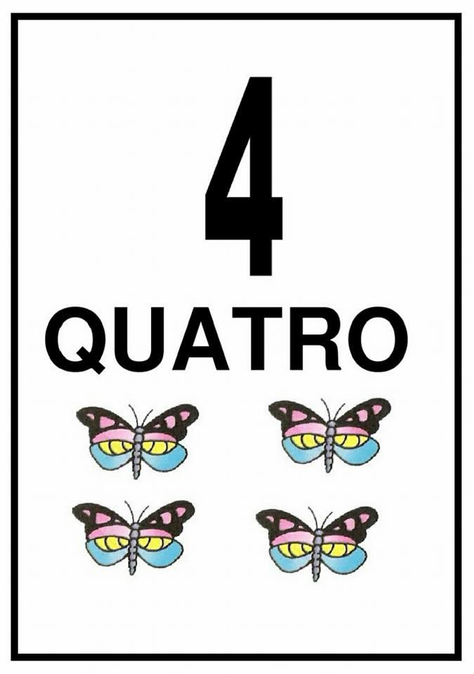 Fichas de Números e Quantidades: 4