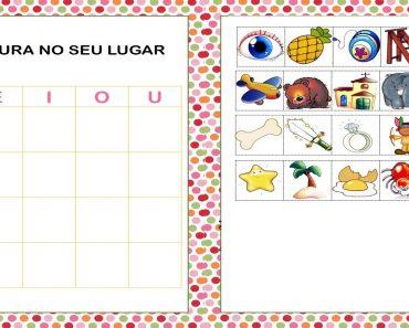 Jogo das Vogais para imprimir - Alfabetização Infantil