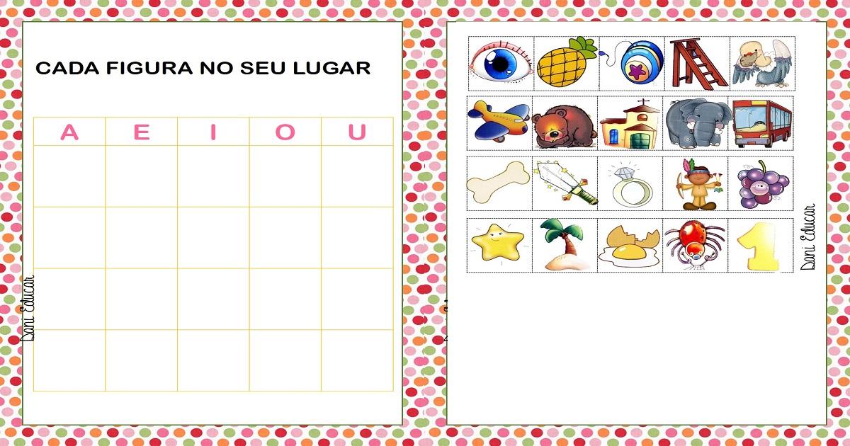Jogo Das Vogais Para Imprimir Alfabetizacao Infantil So Escola