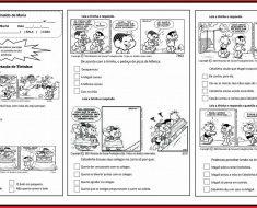 Leitura e Interpretação de Tirinhas - Atividades educativas para imprimir