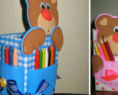 Lembrancinha Porta Lápis com moldes para imprimir