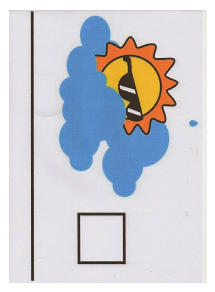 Painel como está o tempo hoje - Cartaz para trabalhar clima (tempo)