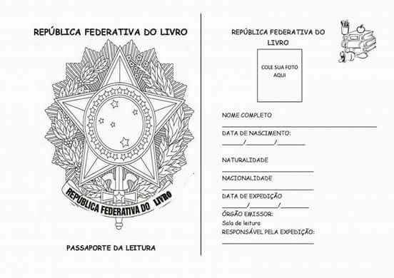 Passaporte da Leitura para series iniciais - Para imprimir