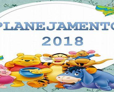 Planejamento 2018 da Turma do Ursinho Pooh - Planner para professores