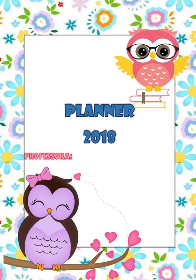 Planner 2018 Com O Tema Corujinha Planejamento Para Professores