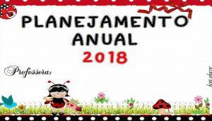 Planner 2018 com o tema Joaninhas para planejamento do professor