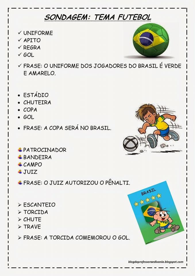 Sondagem para Diagnóstico de Escrita com Tema Futebol: