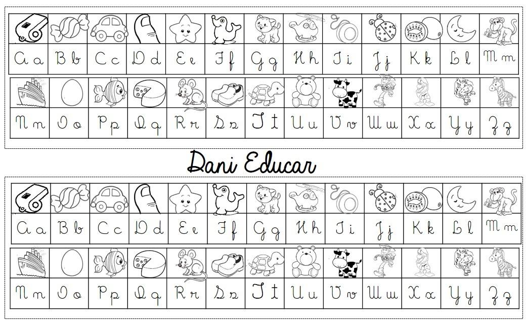 Tabela Alfabeto Com Letra Cursiva So Escola