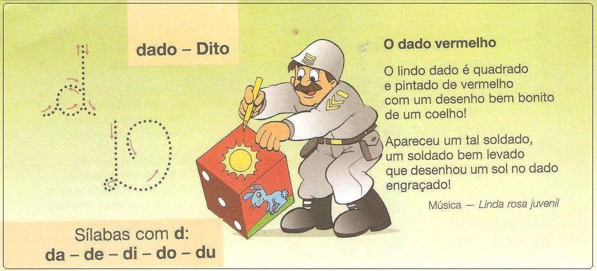 Textos Musicais do Alfabeto - Alfabeto ilustrado para imprimir