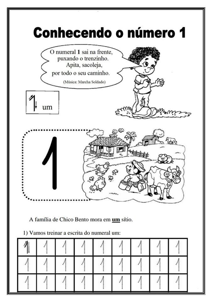 Atividades de Matemática para trabalhar o número 1