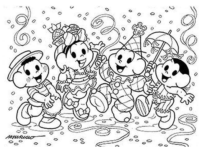 Desenhos para colorir de carnaval