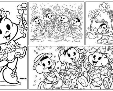 Desenhos para colorir de carnaval e imprimir