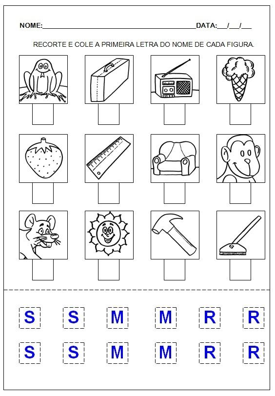 Hipótese pré-silábica - Atividades para imprimir