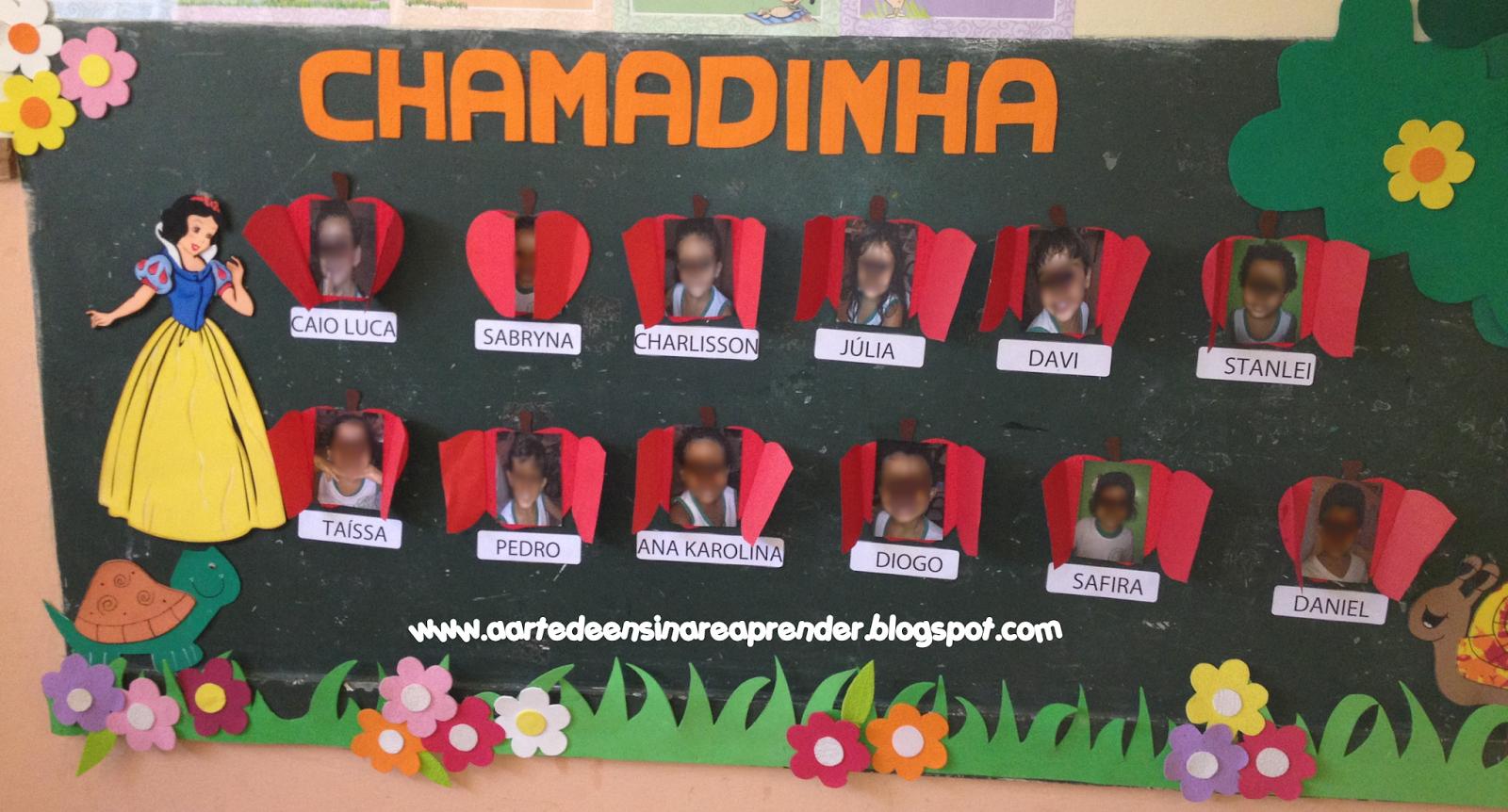 Modelo de chamadinha em EVA para Educação Infantil
