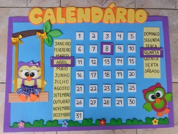 Painéis e Murais de Calendários em EVA na escola