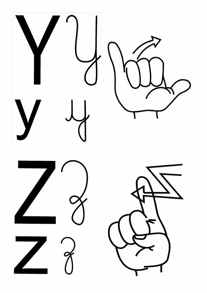Alfabeto em Libras com 4 tipos de letras