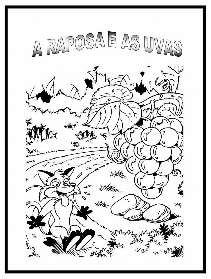Atividades com a fábula A raposa e as uvas