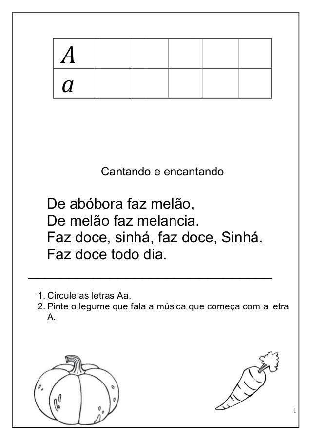 Atividades do Alfabeto com textos para imprimir