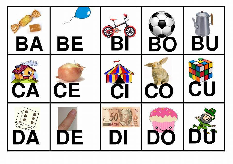 Fichas Com Silabas Simples Para Imprimir So Escola