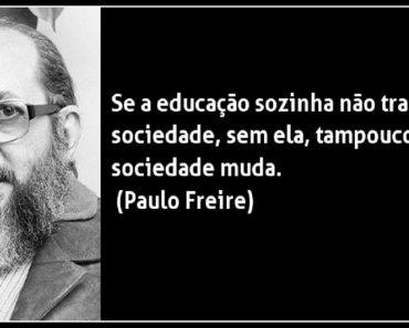 Se a educação sozinha não transforma a sociedade