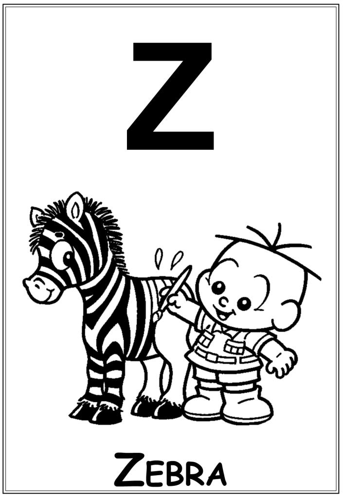 Alfabeto Ilustrado Da Turma Da Monica Baby Letra Z So Escola
