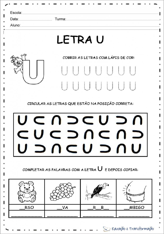 Atividades com vogais pontilhadas para imprimir