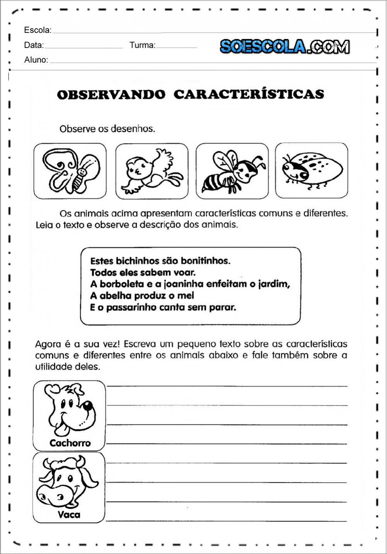 Atividades para produção de texto na alfabetização para imprimir