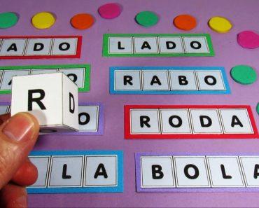 Bingo de Palavras com Dado