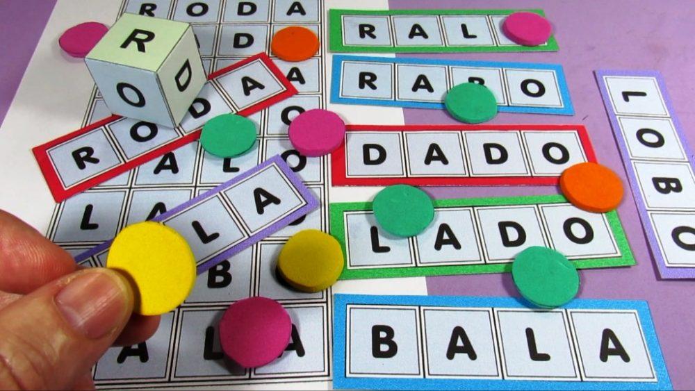 Bingo de Palavras com Dado - Imagens