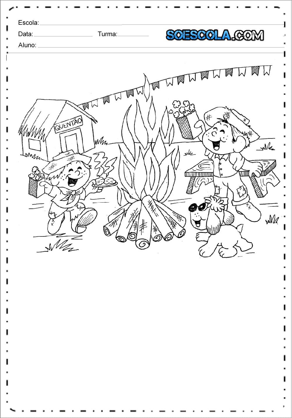 Colorir Desenho Festa Junina So Escola