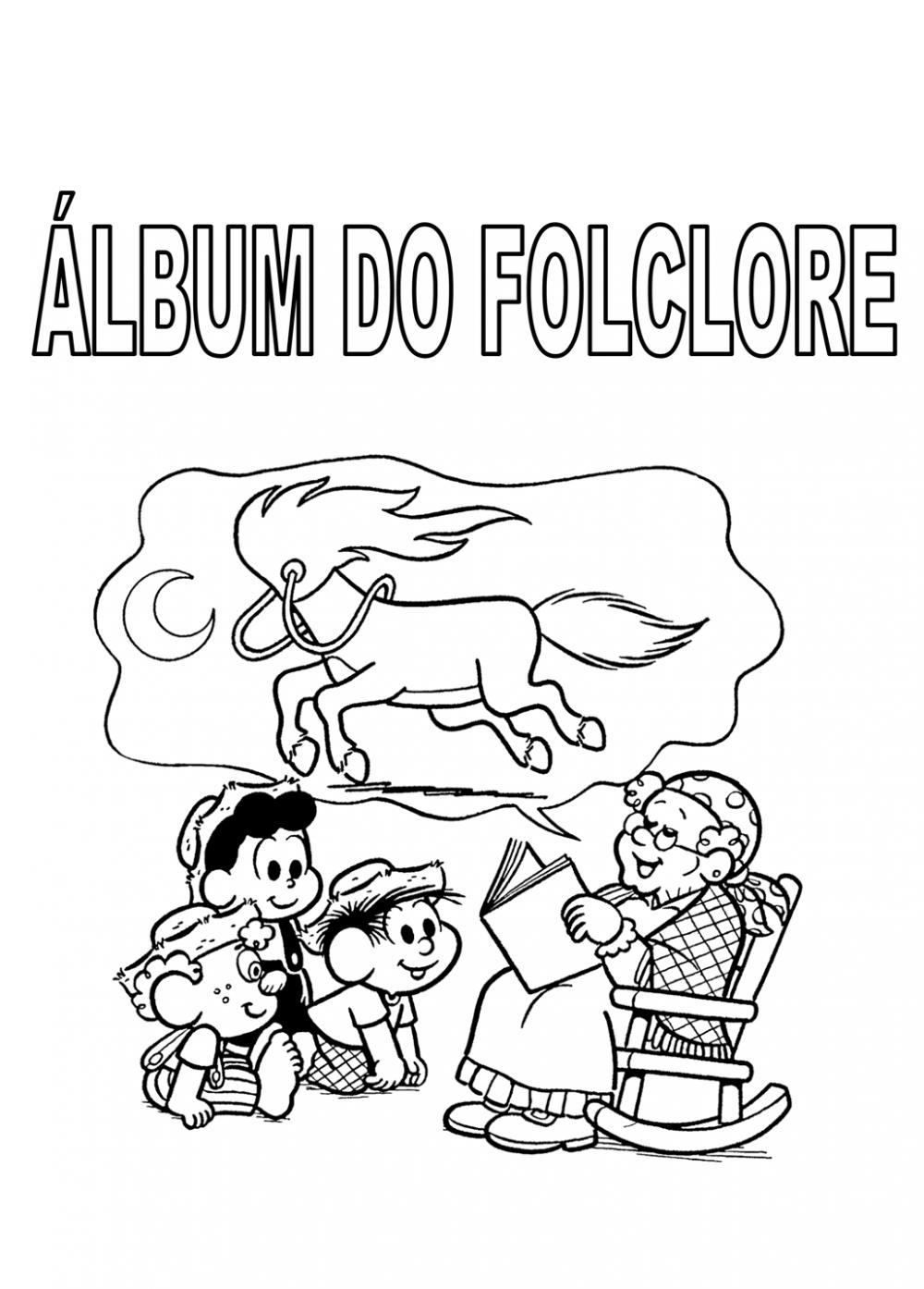 Álbum do Folclore para imprimir