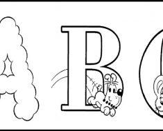 Alfabeto da Turma da Mônica para colorir