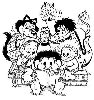 Desenhos Do Folclore Com A Turma Da Monica Para Colorir So Escola