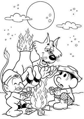 Desenhos do folclore com a Turma da Mônica