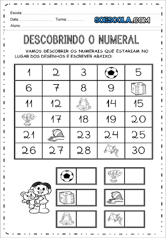 Atividades descobrindo o numeral