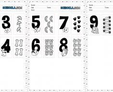 Numerais da Turma da Mônica de 1 a 10