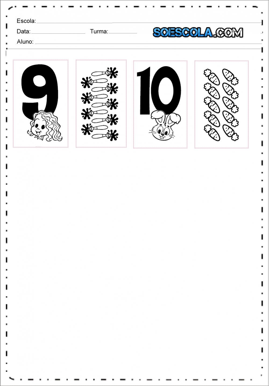 Numerais da Turma da Mônica de 1 a 10 para imprimir