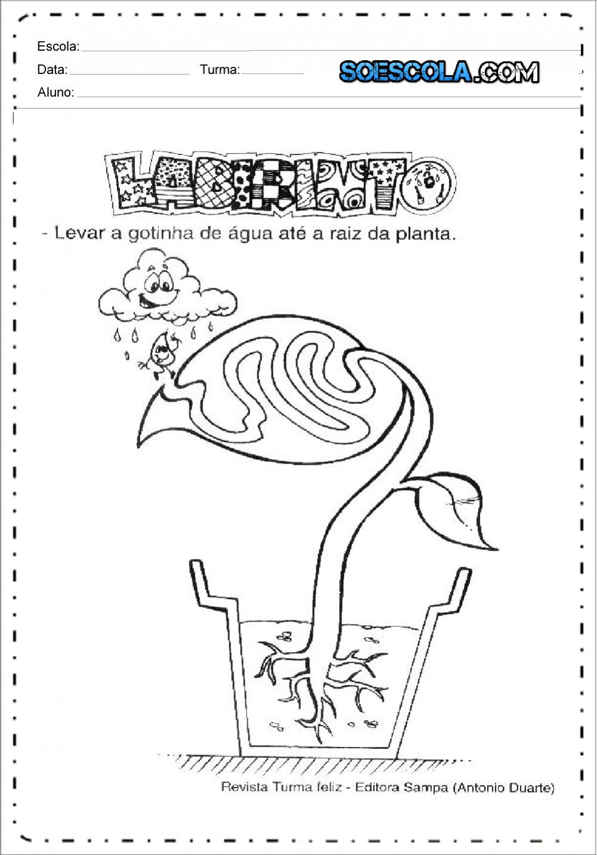 Atividade de Labirinto sobre o Dia da Arvore