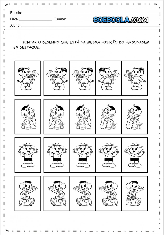 Atividade de percepção visual - Para imprimir