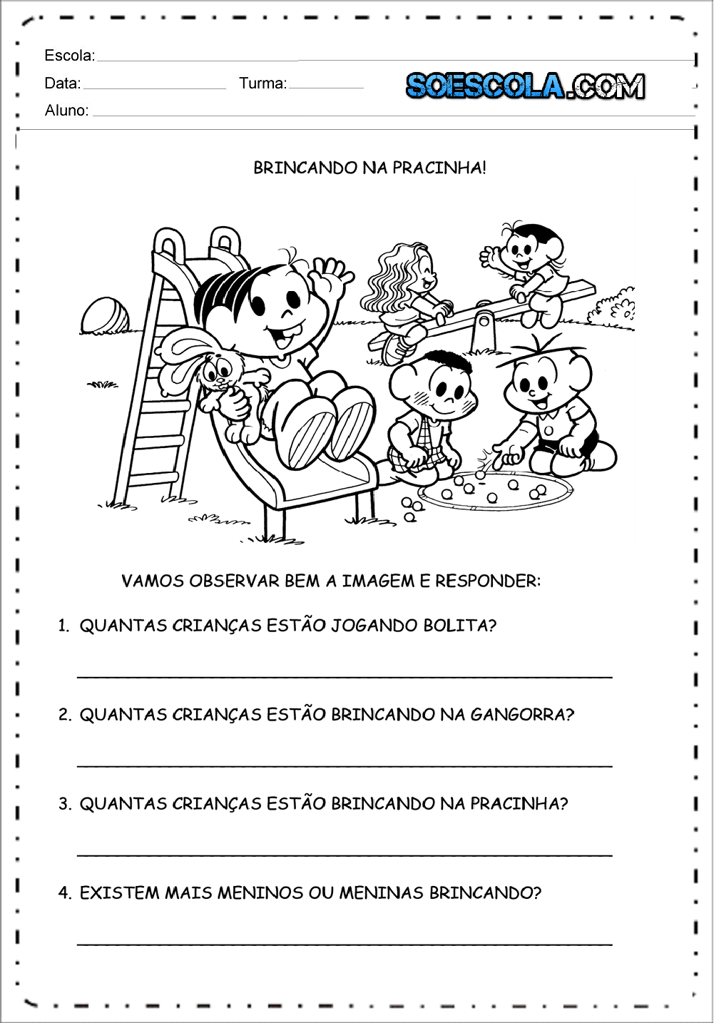 Resultado de imagem para dia as crianças atividades