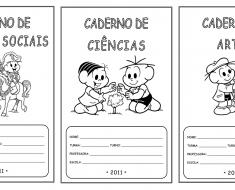Capas de Caderno para imprimir