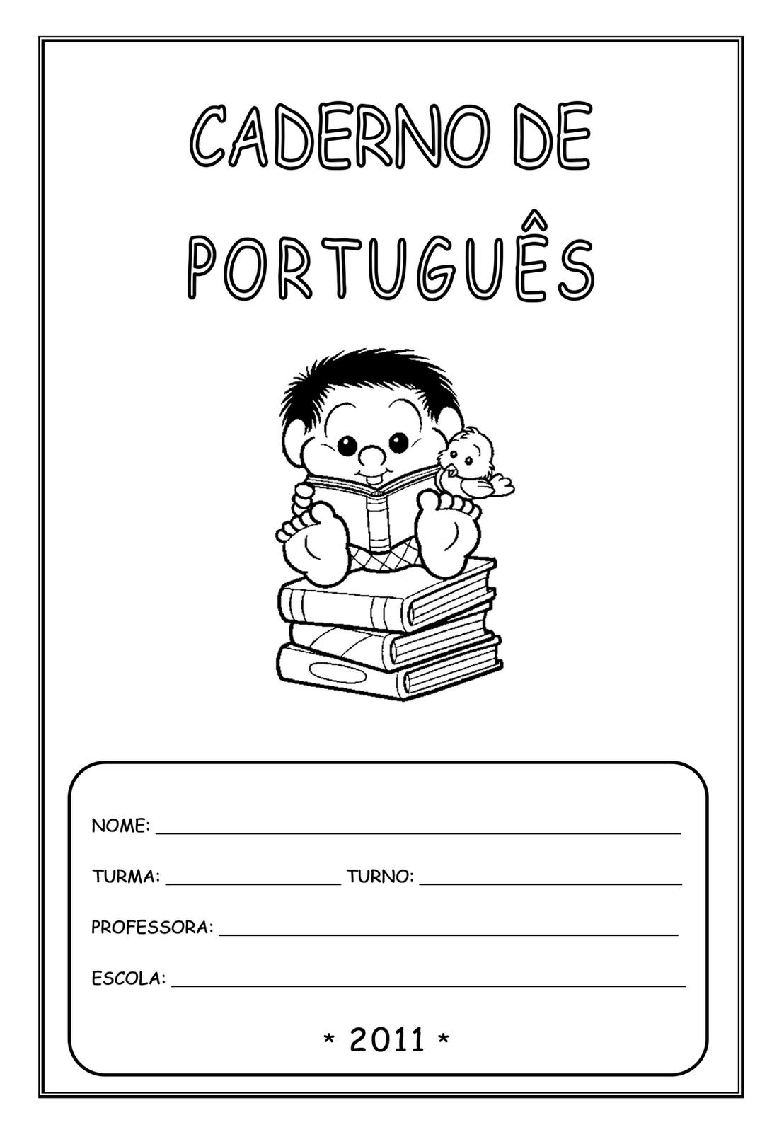 Capas De Caderno Para Imprimir Lingua Portuguesa So Escola