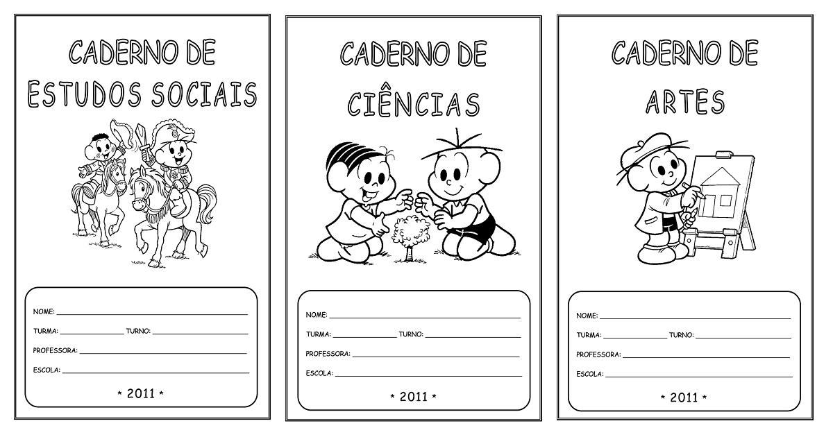 Capas De Caderno Para Imprimir E Colorir So Escola