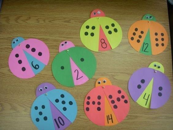 Ideias de Atividades e Jogos manuais para ensinar numerais